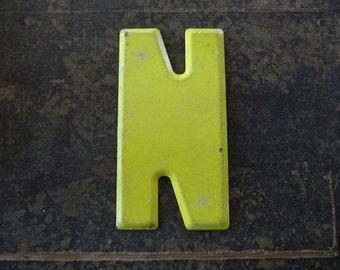 Vintage Letter N Steel Marquee Sign Metal Letter Signage -3-