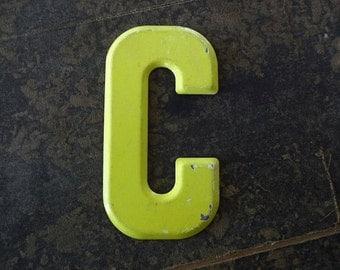Vintage Letter C Steel Marquee Sign Metal Letter Signage -2-