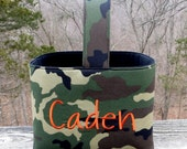 Personalized Easter Basket Camouflage Camo Easter Basket Camoflage Camoflauge Custom Easter Basket for boys or girls