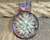 Glass Sea Anemone or Flower of the Sea Pendant by J Hills Glass Art (AN6146A)