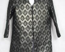 Kids' Black & Silver Tunic/Jacket/Coat Jacquard Fabric Sz 7-8 Traditional Indian Pakistani Sherwarni Kurta Kurtis Bollywood Prince Costume