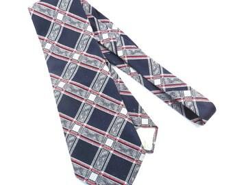 Di Edwardo Red White and Blue Wide Tie Vintage 1970s Mens Necktie