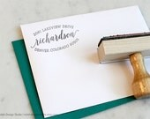 Custom Return Address Stamp 138, Elegant Script Personalized Address Stamp, Wedding Invitation Stamp, Pretty Envelope Stamp, Mail Stamp