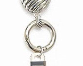 Silver Oval Magnetic Badge Eyeglass Holder (Necklace)