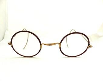 Rare Antique 1920's / 1930s Windsor GOLD / gold FILLED Eyeglasses // Great Gatsby Elegance