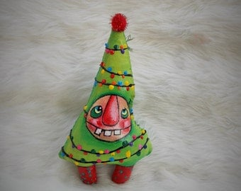 Oh Christmas Tree- Wonky a Christmas Tree Ornament / Ratty Tatty Monster