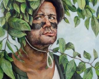 Bill Murray in Caddyshack - Fine Art Painting Print -  Carl Spackler Portrait Painting - 5x7 8x10 11x14