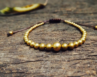 Single Brass Knot Bracelet/Anklet