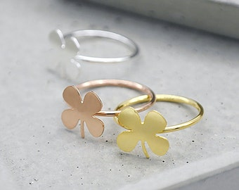 2Pcs Nickel Free - High Quality Rose Gold/Silver/Golden Brass Flower Ring (RB017)