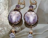 Guardian angel with doves art print angel image bead earrings Pamelia Designs Sacred Jewelry