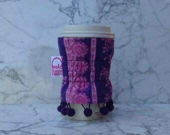 COFFEE COZY - Reusable Fabric Coffee Cozy - Tea Cozy - Coffee Cuff - Coffee Cup Holder - Beverage Holder - Java Jacket - Sis Boom Fabric