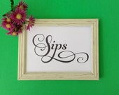Sips Sign Drink Sign DIY Printable Wedding or Party Decoration Drinks