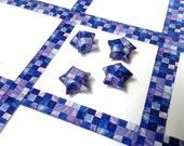 Lucky Stars Paper Strips - Tanzanite, Blue Purple gemstone Mosaic, Ombre, Tiles