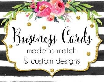 Made To Match or Custom Business Card - Custom Business Cards, Branding, Business Card Templates, Premade Business Cards