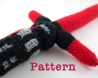 Crochet PATTERN for Star Wars Kylo Ren Lightsaber