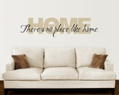 There's no place like Home Wall Decal - Home Quote - Wizard of Oz Wall Sticker - Extra Large 2 color