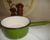 SALE-Green Enamelware Pan