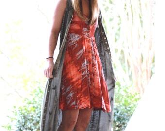 M Hippie Batik Dress, Festival Boho Dresses, Beach Party Bohemian Gypsy Sundress, Hippie Chic, Music Festival Clothing, True Rebel Clothing