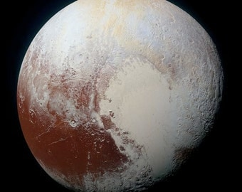 Pluto Outer Solar System Planet New Horizons Frozen Ice Heart NASA Scientific Modern Space Art Astronomy Science Photography Photo Print
