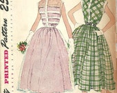 Simplicity 3252 / Vintage 50s Sewing Pattern / Dress / Size 13 Bust 31