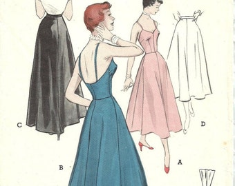 Butterick 5376 / Vintage 50s Sewing Pattern / Evening Slip Petticoat Lingerie / Size 18 Bust 36