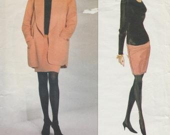 Vogue 2796 / Vintage Designer Sewing Pattern By Donna Karan / Dress Jacket Suit / Sizes 8 10 12