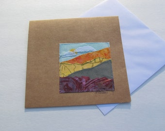 Note Card-Original Landscape Quilted Fabric