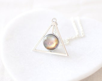 Galaxy Necklace. Omega Nebula Necklace. Triangle Necklace. Space Necklace. Cosmos Necklace. Universe Necklace. Deathly Hallows.