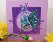 Faerie Greeting Card - Bluebell Faerie - Bluebell Flowers - Woodland Card - Pagan Card - Birthday Card - Blank Card