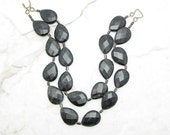 Chunky Statement Necklace [Statement Necklace Black Mica Statement Multi Strand Statement Collar] BLACK OUT
