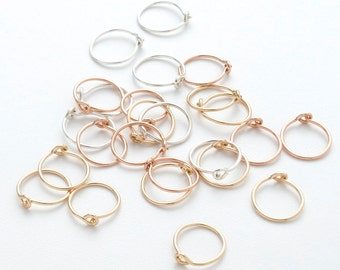 TINY HOOPS -  your choice - sterling silver - 14k gold filled - rose gold - small hoop