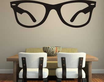 Hipster Wall Decal, Glasses Wall Decal, Decor for Kids, Eyewear Wall Decal, Specs Wall Decal, Sunglasses Wall Decal, Optometry Art