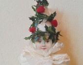 PDF Pattern Cotton Batting Ornament Christmas Tree Girl