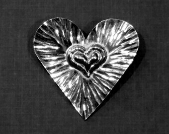 Pewter Heart Pin
