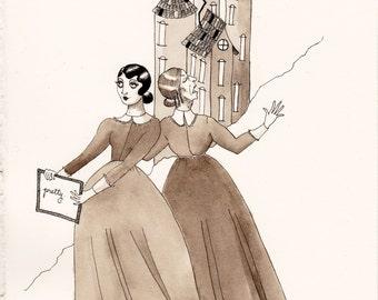 Pretty: A Gothic, Victorian Fairy Tale Illustration - ORIGINAL ART