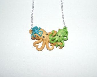CUSTOM made to order Mother and Children octopus in loving embrace 1-4 children