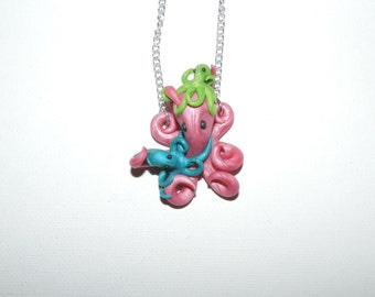 CUSTOM Mother and Children octopus in loving embrace