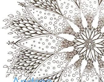 mandala coloring book page