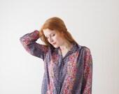 Spring, flower vintage blouse, Japan, small - medium