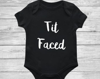 Tit Faced Bodysuit - Baby boy Outfit - Funny baby shirt - Baby shower gift - newborn clothes - trendy baby clothes -cute baby outfits