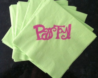 Green and Fuschia Party Paper Cocktail/Lunch/Dinner Napkins