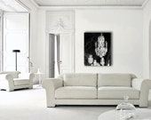 Chandelier Canvas, Paris Canvas, Large Canvas Art, Versailles Canvas, Chandelier Wall Art, Wall Art Canvas, Black White Canvas, Chandelier