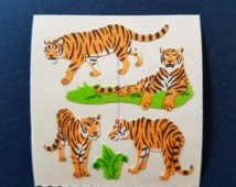 FUZZY SANDYLION Sticker - Tiger stickers***