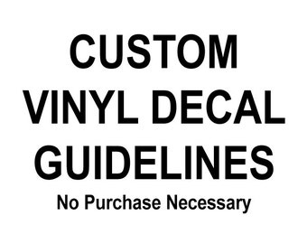 View FAQ By SewardStreetStudios On Etsy - Custom vinyl decal application instructionsapplication etsy