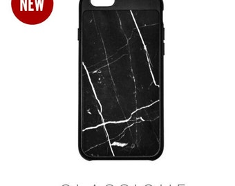 Cyber Week Sale REAL Marble iPhone Case by Classique Cases, Black Marble & White Marble for iPhone 6/6s. Gorgeous luxury fashion accessory.