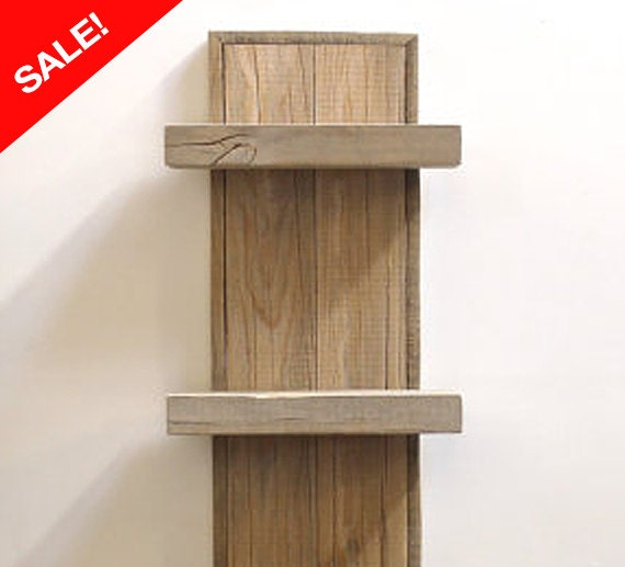 Sale reclaimed wood shelf wall decor by realwoodworks1 on etsy for Barnwood shelves for sale