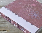 Blank Art Journal, Choose One of Three Designs, French Stitched Scrap Journal, READY TO SHIP