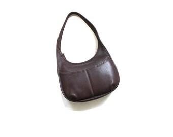 Vintage Coach Bag / Coach Hobo Bag / Brown Leather Coach Purse