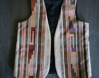 Vintage SANTA FE Southwest Oversized Vest (m-l)