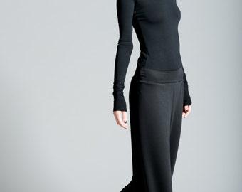 Wide Leg Pants / Black Pants / Winter Pants / Comfortable High Fashion / Loose Fitting Pants / marcellamoda - MP116